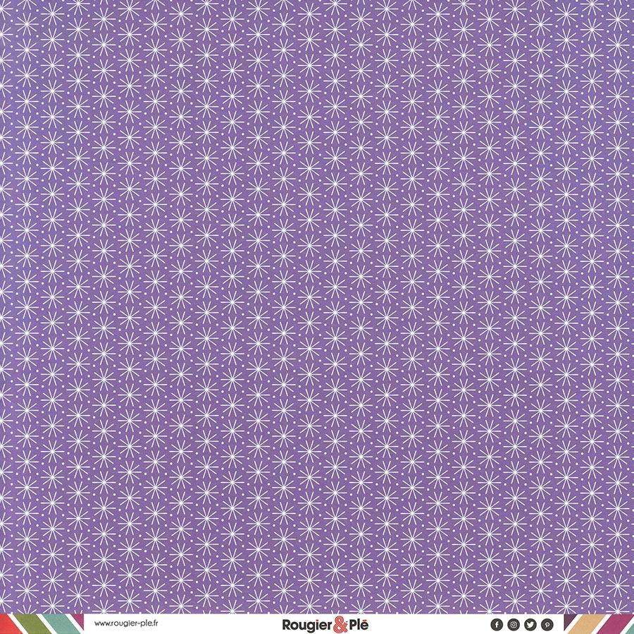 Papier recto-verso - mauve / géométrique