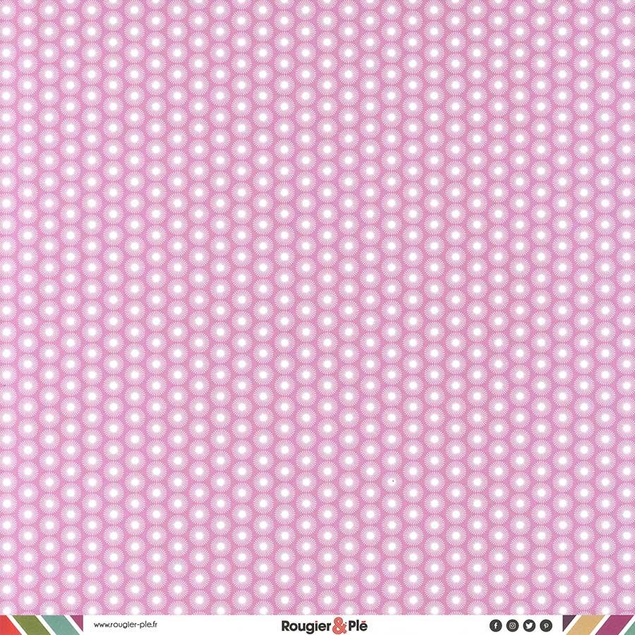 Papier recto-verso - rose / géométrique