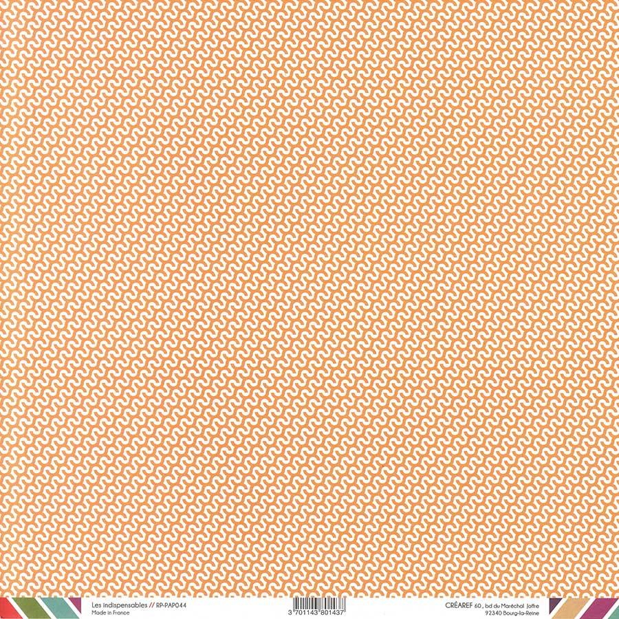 Papier recto-verso - orange / géométrique