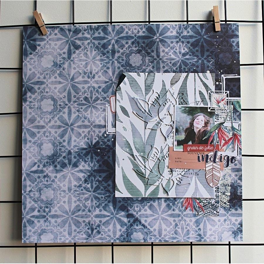 Blue Batik - Papier #1