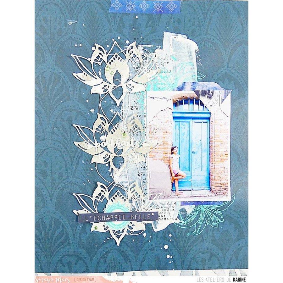 Blue Batik - Papier #4