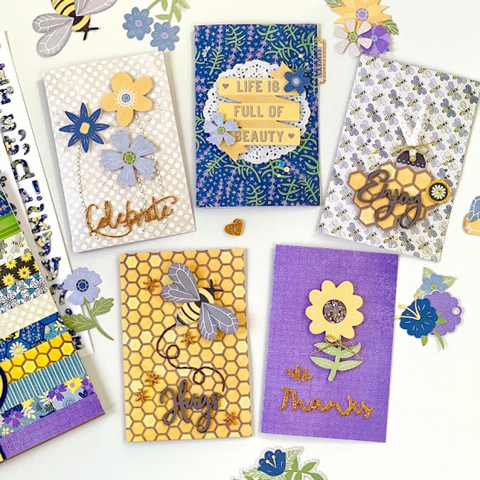 Bee-utiful You - Papier Sunflowers