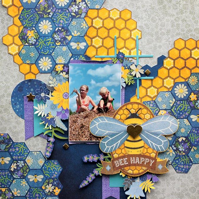 Bee-utiful You - Papier Double Dot Lace - vert