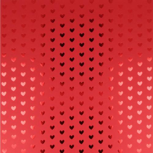 Papier - Heart foil - Red hots
