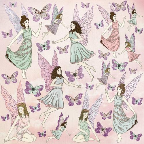 Fairy Garden - Papier spécial Glitter Flutterby