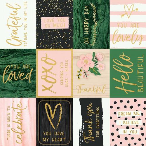 Fleur - Papier spécial Foil You are Loved