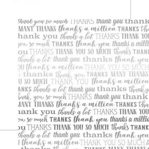Many Thanks Foil - Papier White Many Thanks Silver Foil