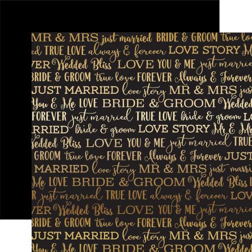 Love Story Foil - Papier Black Love Story Gold Foil