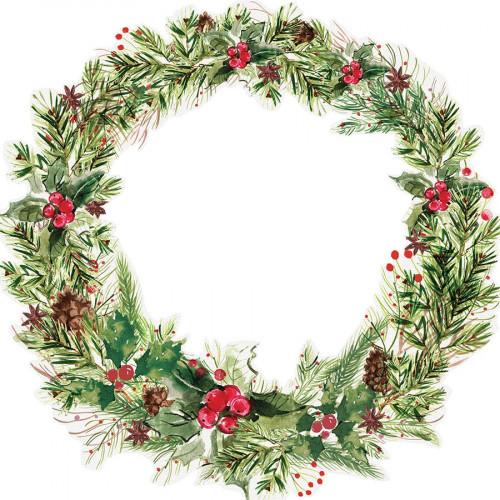 Peace & Joy - Papier spécial Die-cut Leafy Wreath