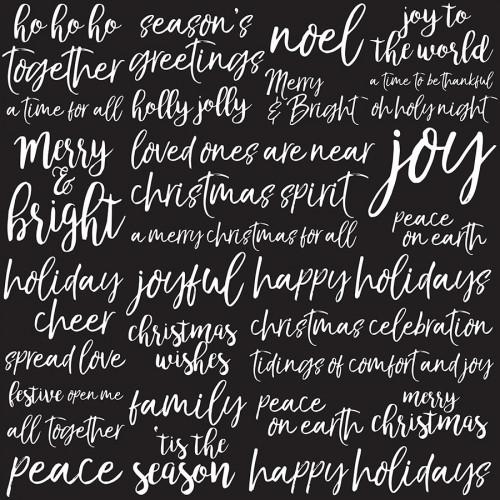 Peace & Joy - Papier spécial Gloss Joyful