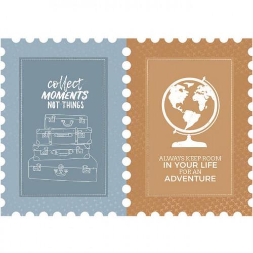 Let's Go - Papier spécial Die-cut Postage Stamp