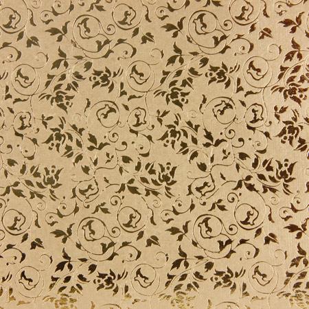 Papier doré à chaud - Motifs baroques - Or 12 x 12