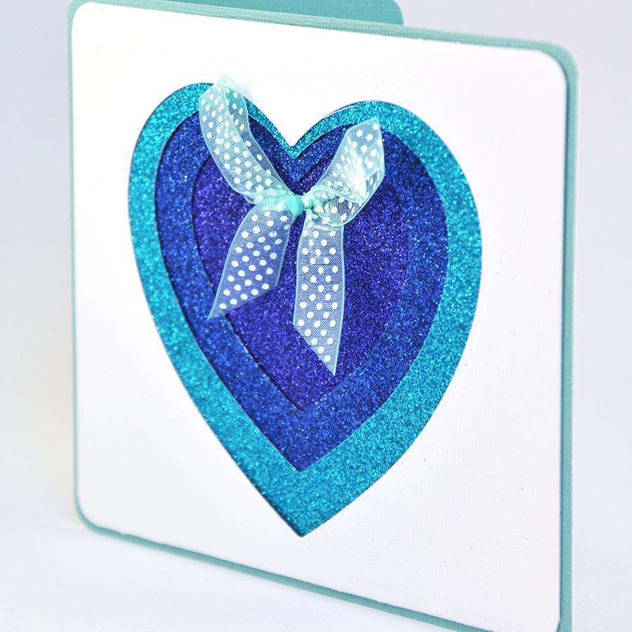 Oh Glitter ! - Papier adhésif - bleu azur