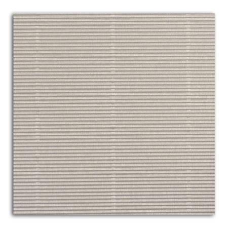 Papier ondulé - Argent - 30,5 x 30,5 cm