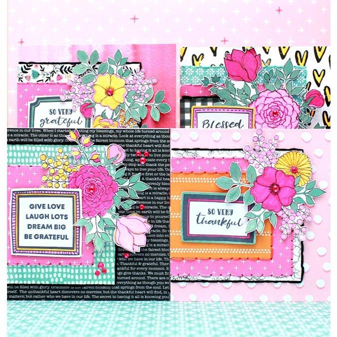 Blessed - Papier spécial Die-cut Floral Frame