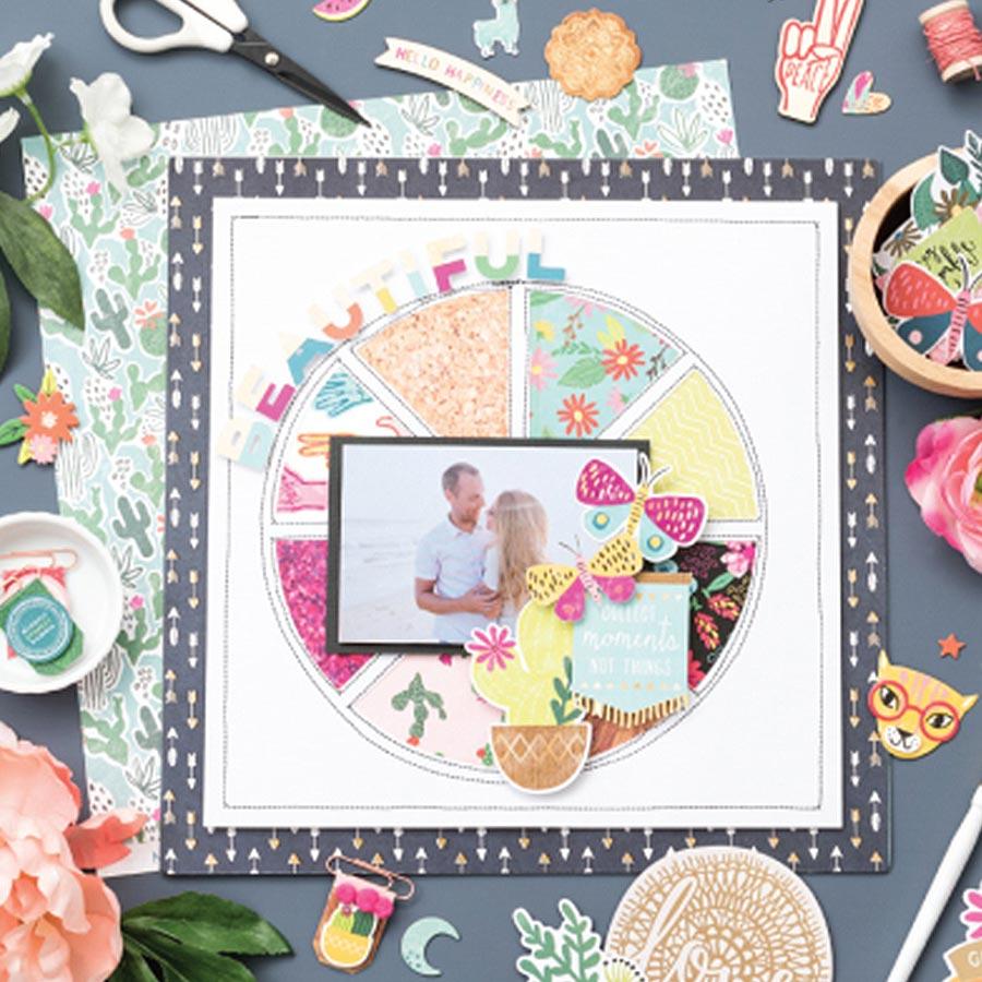 New Day - Papier spécial Die-Cut Fleurs