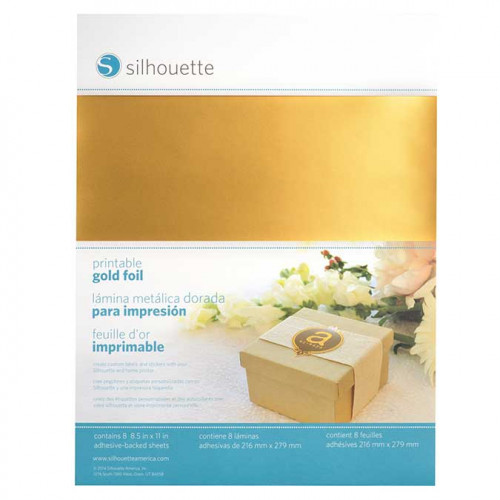 Stickers Or imprimables - 8 feuilles
