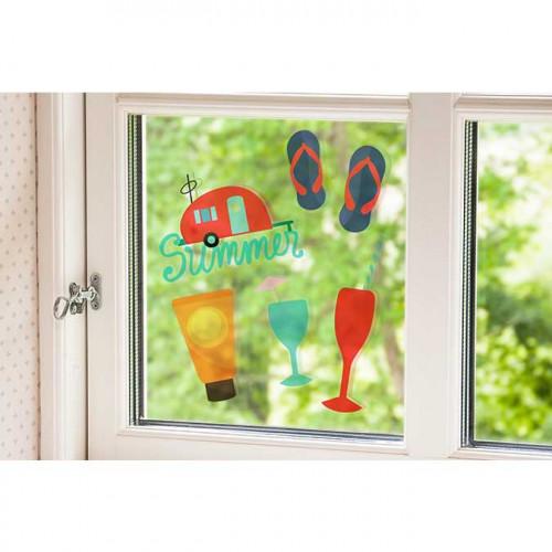 Feuilles électrostatiques transparentes pour vitres - imprimable - 5 pcs