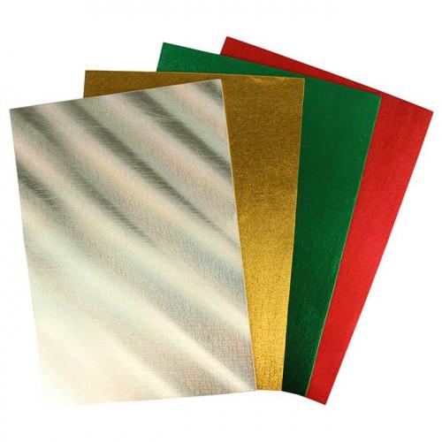 Feuilles de mousse - couleurs métallisées - A4 - 4 pcs