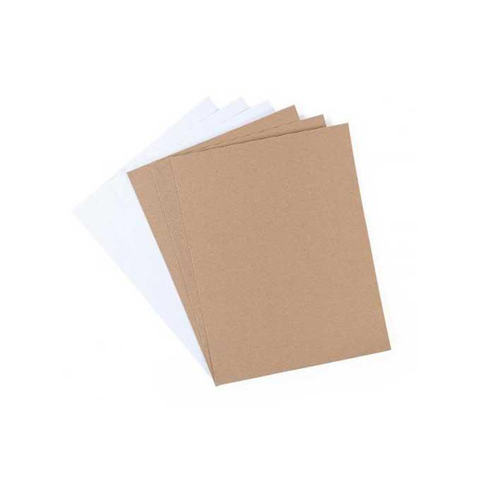 Carton ondulé - adhésif - 6 feuilles