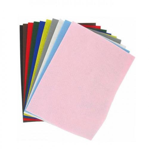 Feutrine - couleurs assorties - 20 x 30 cm - 10 feuilles