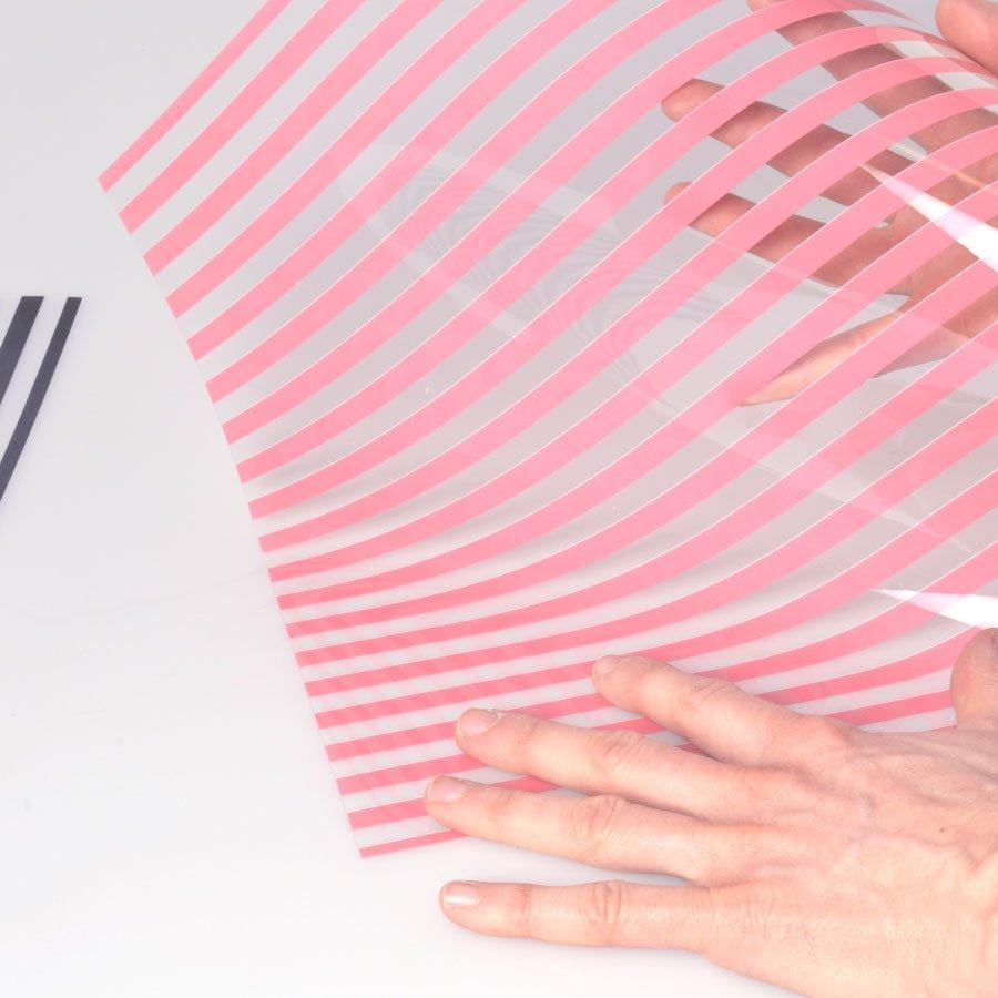 Papier transparent - Stripes Green