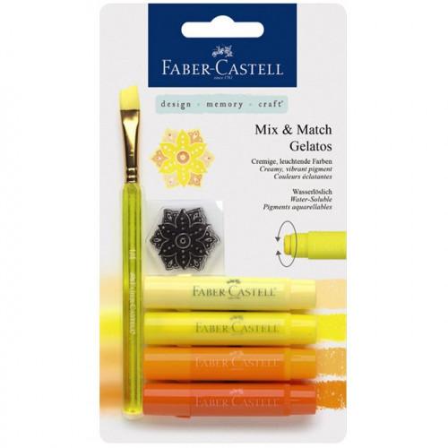 Gelatos - Pack de 4 nuances de jaune + accessoires