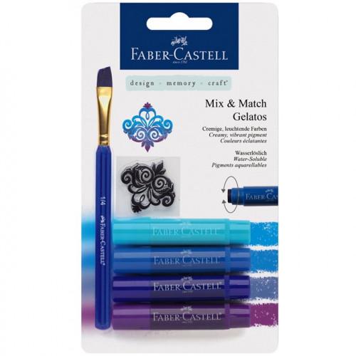 Gelatos - Pack de 4 nuances de bleu + accessoires