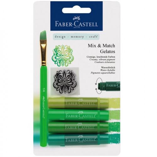 Gelatos - Pack de 4 nuances de vert