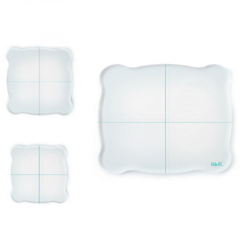 Set de 3 blocs acryliques pour tampons