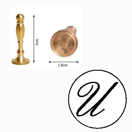 Tampon laiton 18 mm - U - 1.4 x 1.2 cm
