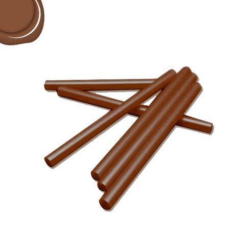 6 Bâtons de cire pour pistolet - Chocolat