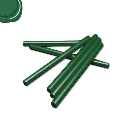 6 Bâtons de cire pour pistolet - Vert foncé