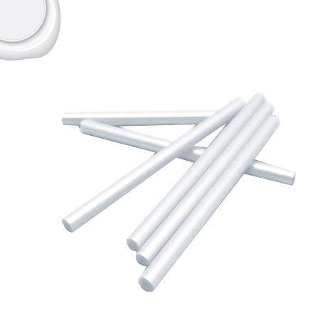 6 Bâtons de cire pour pistolet - Extra blanc