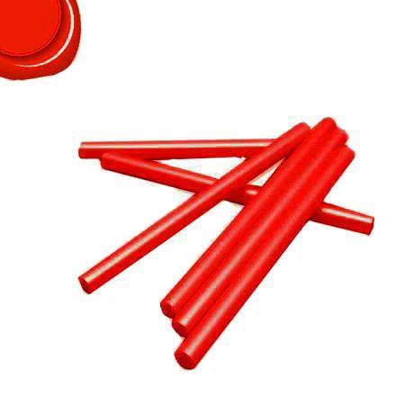 6 Bâtons de cire pour pistolet - Rouge