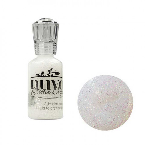Encre Glitter Drops White Blizzard - 30 ml
