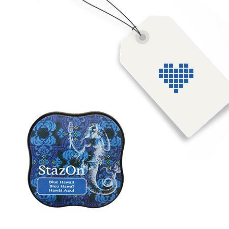 Encreur StazOn Midi - Blue Hawaii