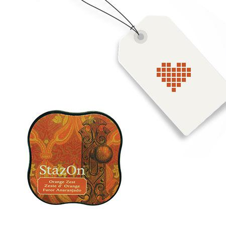 Encreur StazOn Midi - Orange Zest