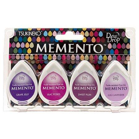 Assortiment de 4 encreurs Memento Dew Drop - Juicy Purples