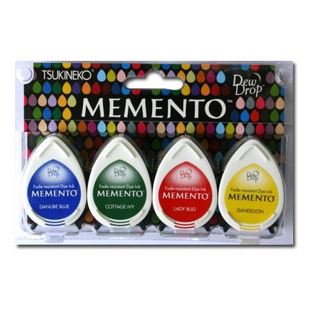 Assortiment de 4 encreurs Memento Dew Drop - Prime Time