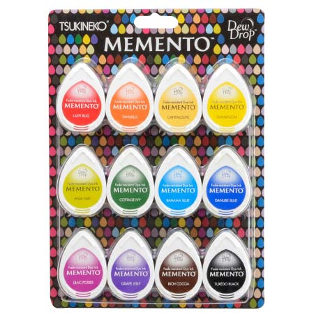 Assortiment de 12 encreurs Memento Dew Drop - Gum Drops