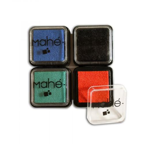 Encreurs - noir, bleu, vert, orange - 4 pcs