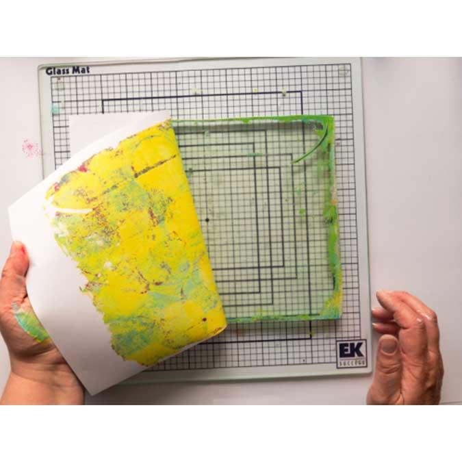 Plaque d'impression en gélatine Gel Press - rond - 15 cm