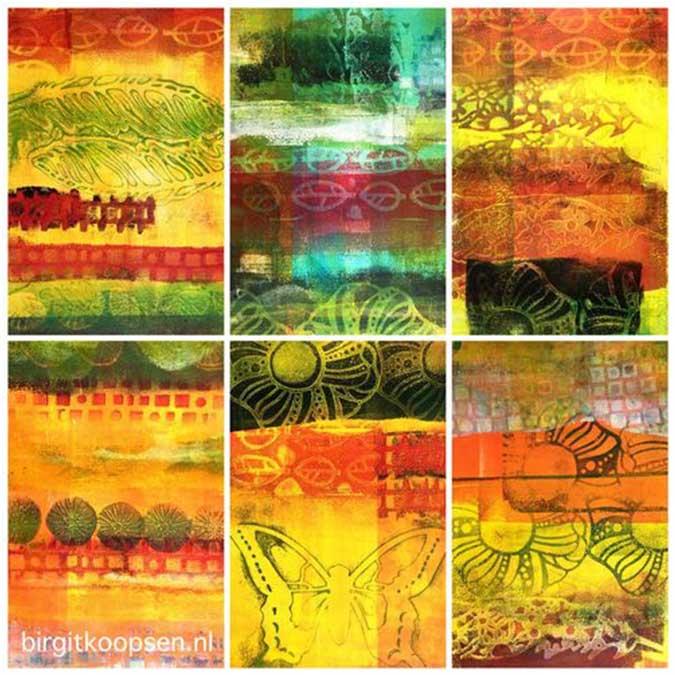 Set de 3 plaques d'impression en gélatine Gel Press - Set B