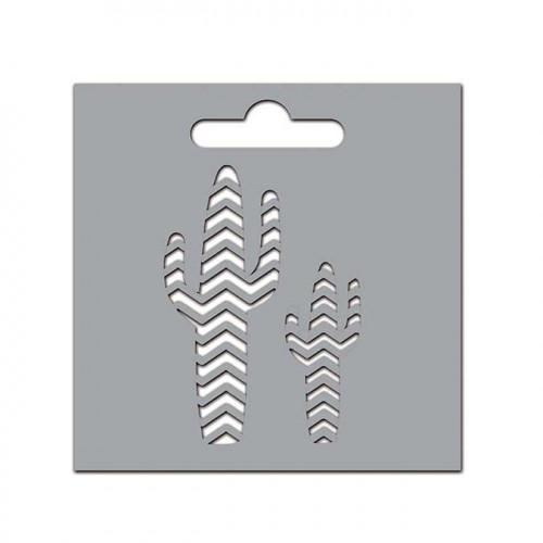 Pochoir Cactus - 8 x 8 cm