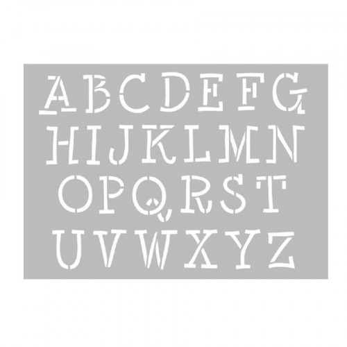 Pochoir - Alphabet - A4