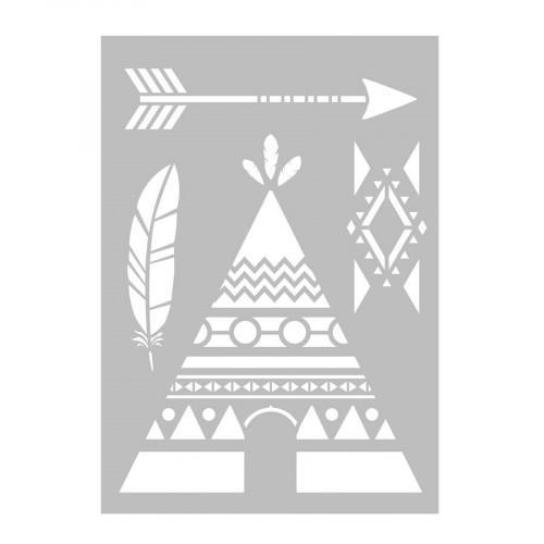 Totem - Pochoir - Tipi - A4