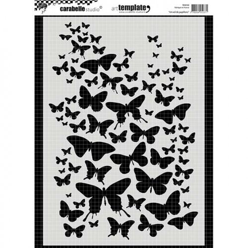 Pochoir - Un vol de papillons - A4