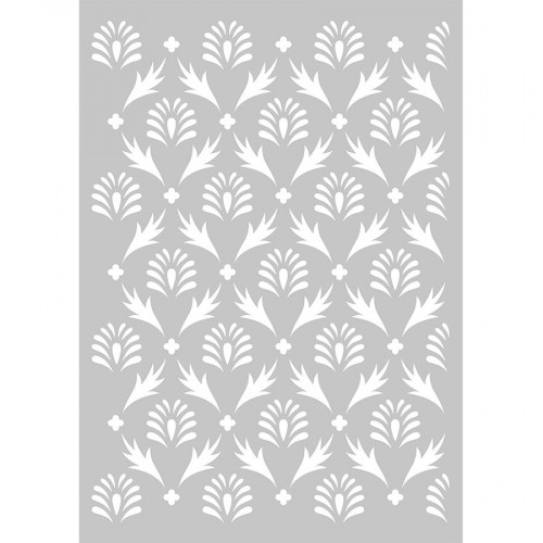 Pochoir Secret Garden motif Feuilles - A3
