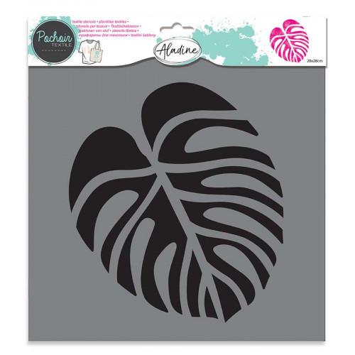 Pochoir textile Feuille tropicale - 28 x 28 cm